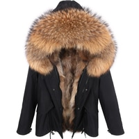Men Winter Jacket 7XL Real Fur Parka  Real Raccoon Fur Hooded Coat Nature Raccoon Fur Lining Jackets Man Real Fur Coat