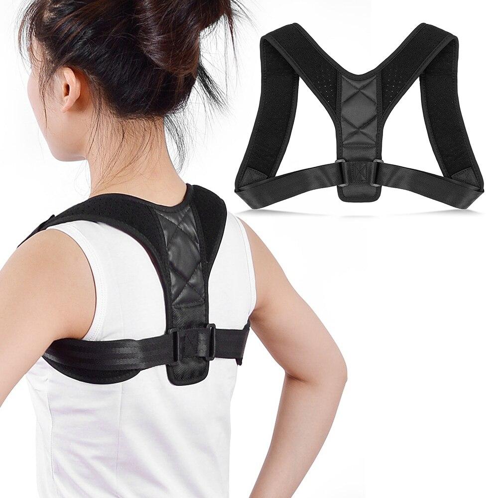 2019 ajustável superior volta postura corrector médico ombro postura corrector fixador clavícula cinta cinto de apoio para homens