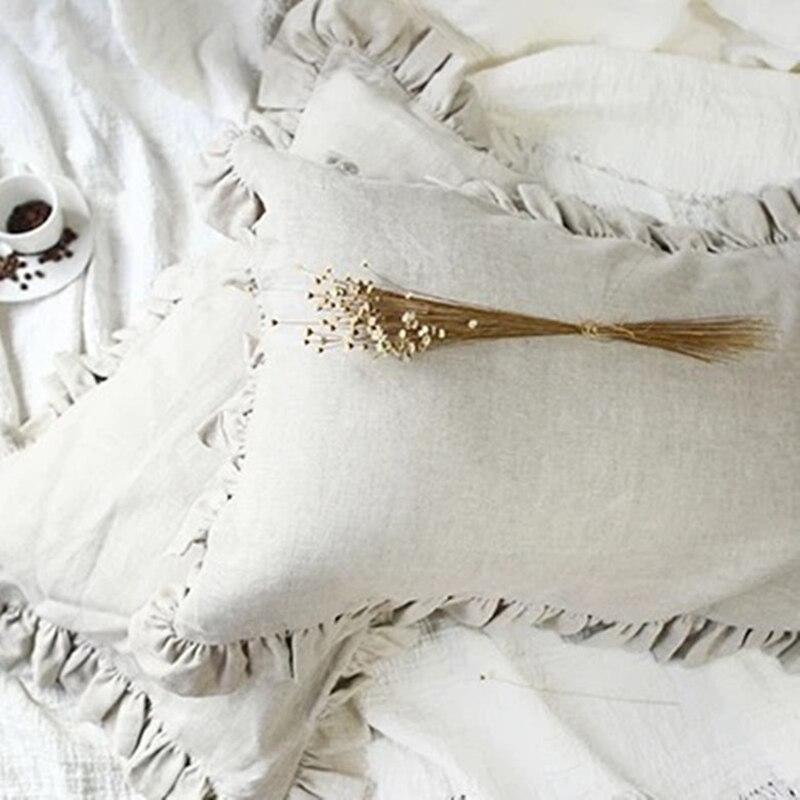 100% الكتان سادات لوتس ورقة واسعة نوع العاج الأبيض الوردي الطبيعي الكتان الأزرق ألوان سادات 48x74 cm 2 قطعة على بيع