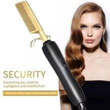 Multifunctional Hair Comb Hair Straightener Hot Heating Comb Hair Curling Straightening Tool Hair St