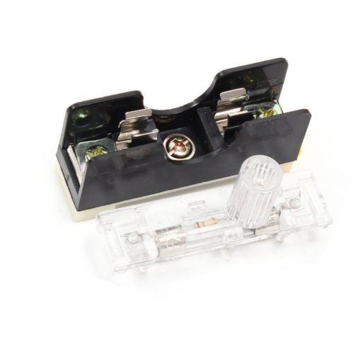 10 PCS FS101 10A 6*30mm Fusível Tomada Aplicado Com Indicador de Luz Montado Em TRILHO DIN