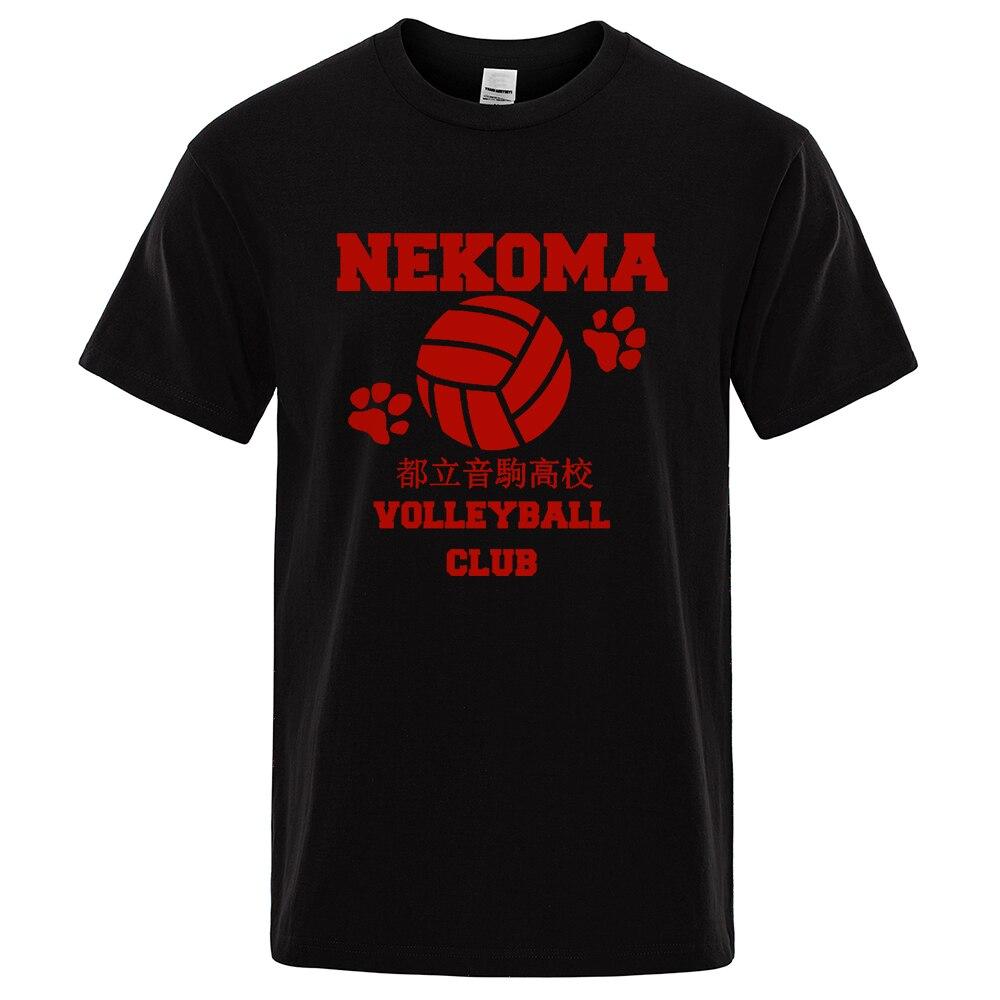 Camiseta club Voleibol rojo camiseta Hombre Impresión de Anime T camisa para...