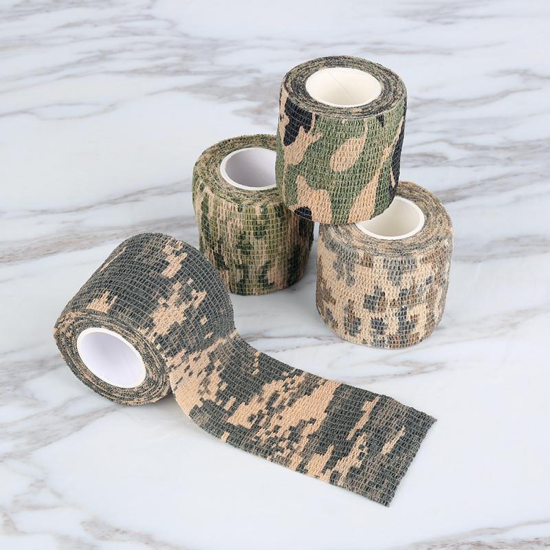 Herramienta de caza de camuflaje para exterior 5CM * 4,5 M Army Camo, cinta aislante de camuflaje no tejido, pegatinas de envoltura impermeables, envoltura ciega de disparo, nuevo