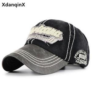 XdanqinX new washed cotton baseball caps for men women adjustable sports cap children's hat snapback cap Boys girls hip hop hats
