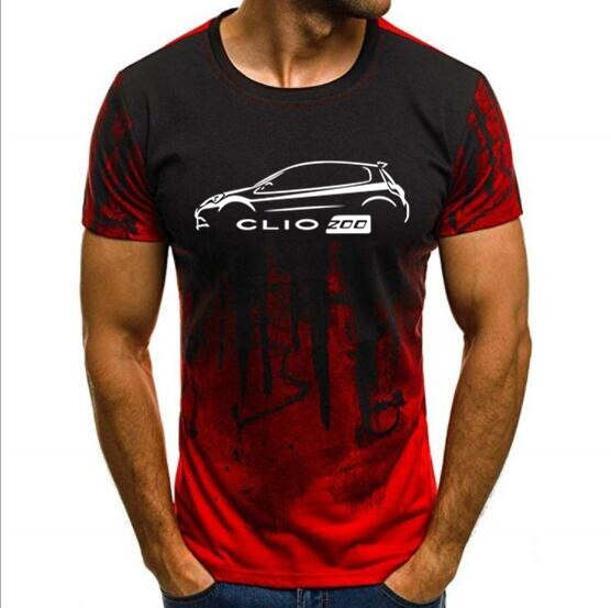 Camiseta de manga corta de camuflaje para hombre, Camiseta deportiva RENAULT CLIO 200, Camiseta clásica con estampado de coches para hombre, camiseta de verano
