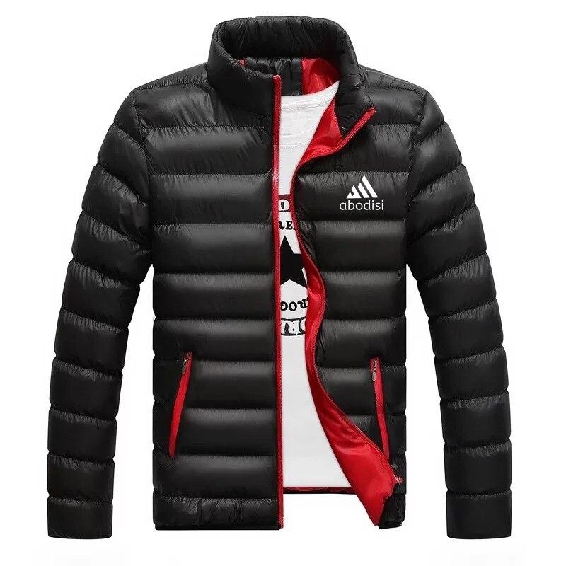 Зимняя мужская куртка, модная мужская куртка с воротником-стойкой, Мужская парка, Мужская однотонная Толстая куртка, Мужская парка, пальто