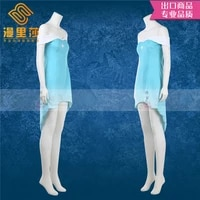 elsa summer cosplay costume snow blue dress princess dress halloween party kawaii outfit costume for adult a