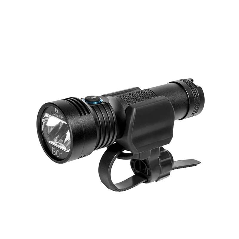 B01 الدراجة الخفيفة USB مصباح يدوي قابل لإعادة الشحن 850 لومينز الفانوس 18650 إضاءة أمامية للدراجة المضادة للتوهج تصميم 210 متر Fahrrad Licht