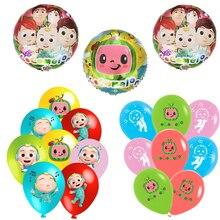 Cocomelon Theme Aluminum Balloon Birthday Decoration Latex Balloon Party Supplies Boys Baby Shower K