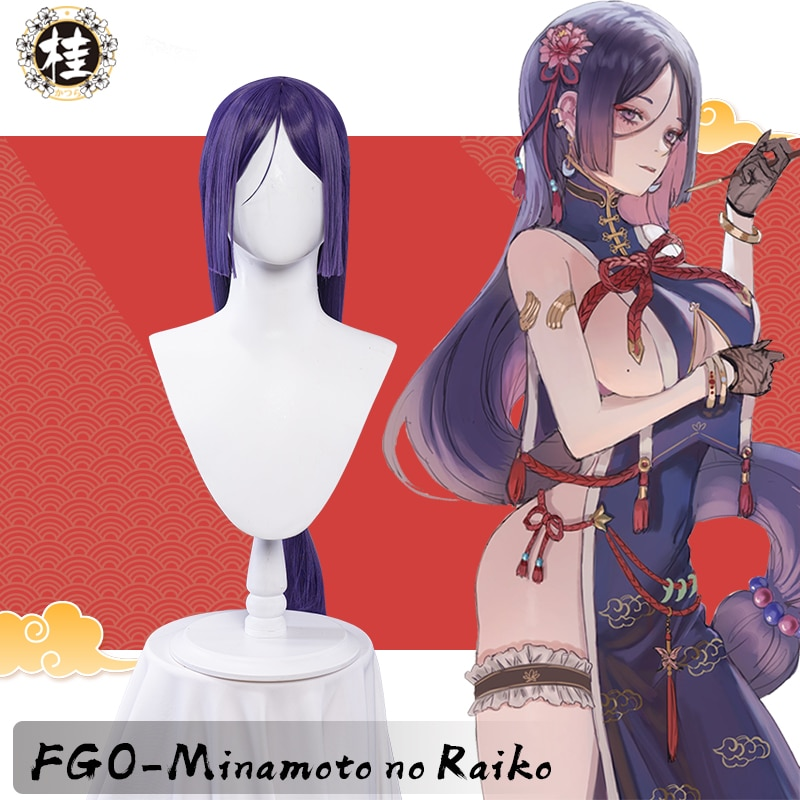UWOWO أنيمي مصير الطلب الكبير/FGO فانارت شيونغسام Ver. ميناموتو لا Raikou شعر مستعار تأثيري