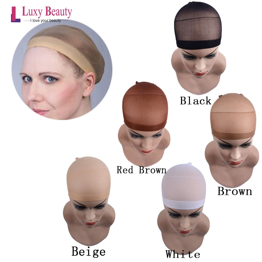 Hair Nets Lace Wig Cap Wig Nets 2PCS/pack Weave Hairnets For Making Wigs Free Size 5 colors