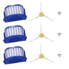 9Pcs Vervanging Deel Kit Voor Irobot Roomba 600 610 620 625 630 650 660 680 Stofzuiger Aero Vac filter & Side Borstel