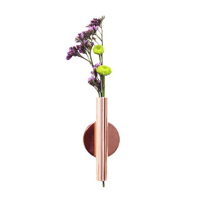 Florero postmoderno ELEG-nórdico Ikebana ramo de flores secas pegatina de pared florero creativo para el hogar