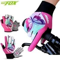 batfox cycling gloves anti slip anti sweat men women winter full finger summer half finger gloves breathable sports gloves