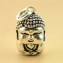 S925 pendentif en argent antique argent bouddha style folklorique rétro coréen exportations de bijoux vers leurope et les états-unis