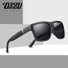 Lunettes de soleil polarisées rétro hommes   Design de marque 20/20, lunettes de soleil carrées Vintage pour hommes, Oculos lunettes de soleil pour hommes, PL363
