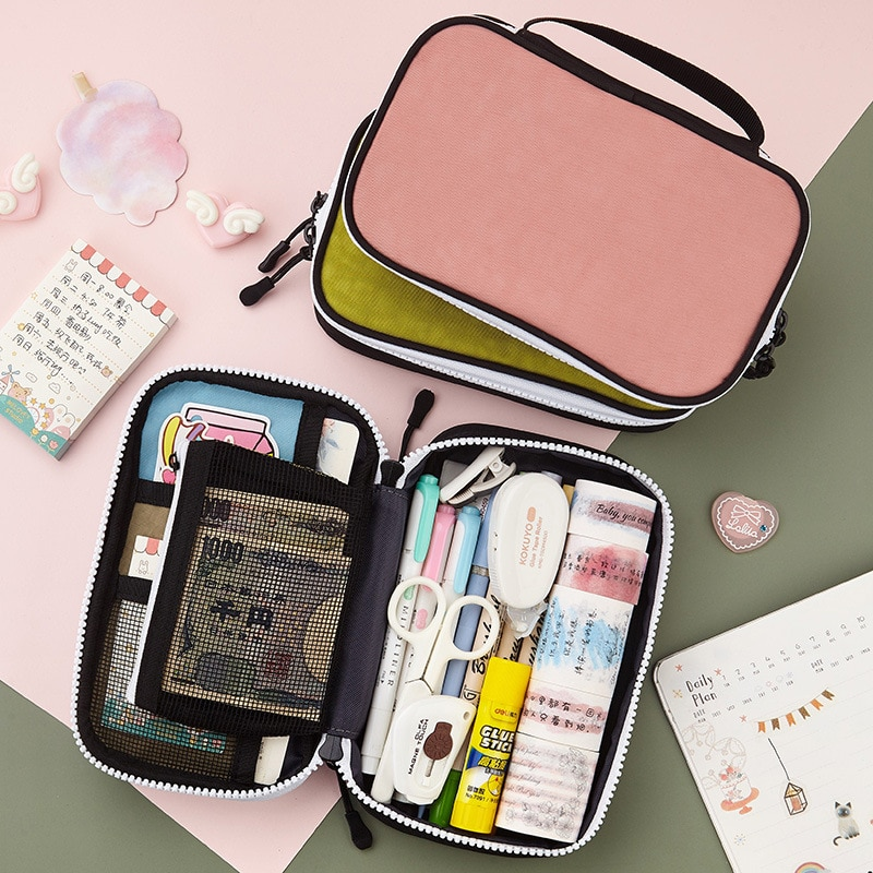 candy color large capacity pencil case eva pen pouch bag for girls cute school pencil box sweet cake pencilcase stationery store Cute Pencil Case School Pen Case Supplies Kawaii Pencilcase Large Capacity Canvas Pencil Bag Box Pencil Pouch Stationery Storage