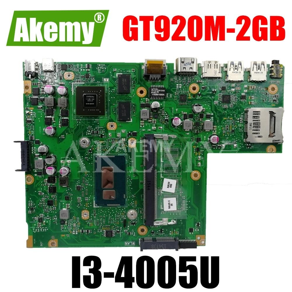 Akemy X540LJ материнская плата для ноутбука For For For Asus VivoBook X540L R540L F540L A540L оригинальная материнская плата без RAM I3-5005U GT920M-2GB