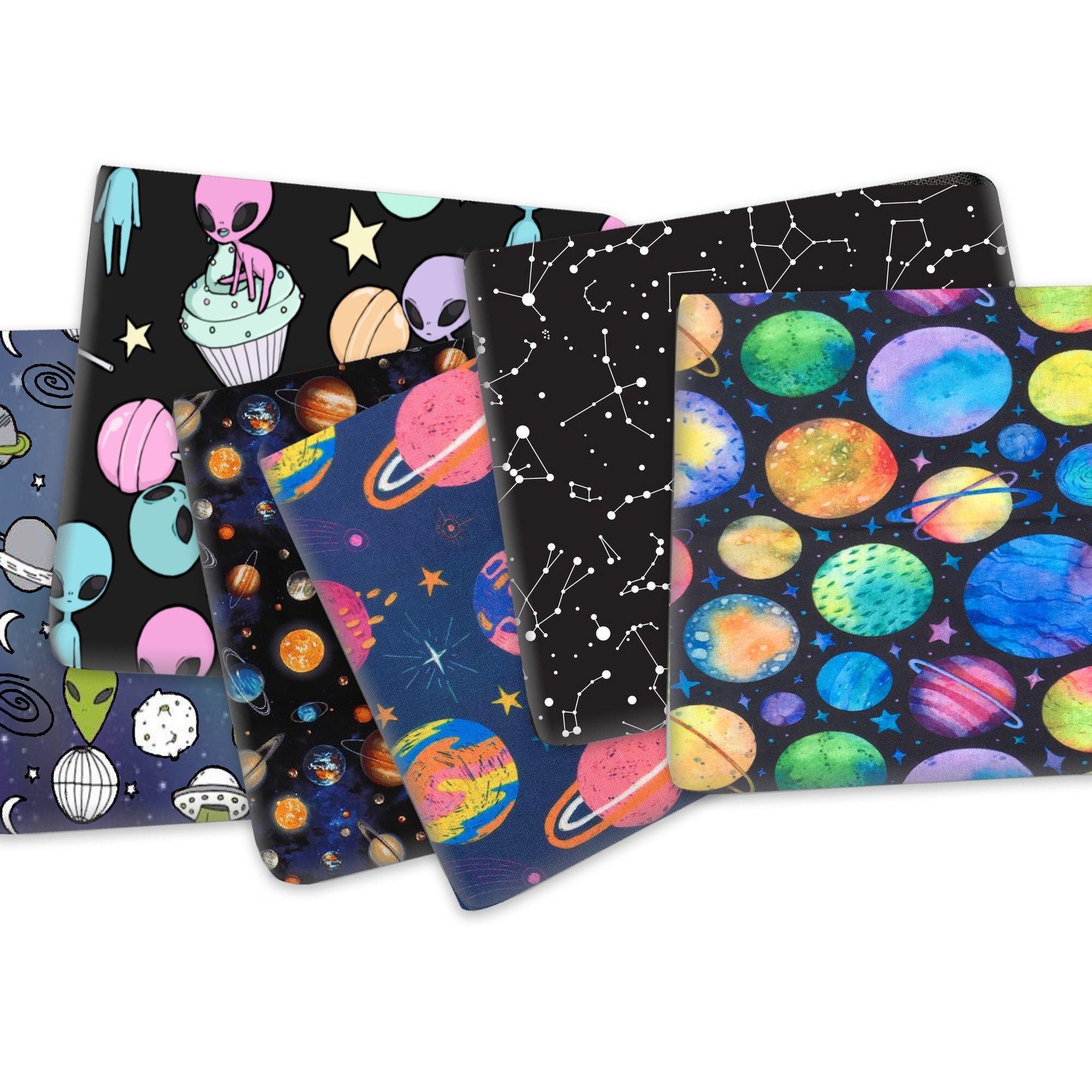 Ткань хлопковая Полиэстеровая с принтом планеты Галактики, 50*145 см, материал ручной работы для домашнего текстиля, 1Yc13746