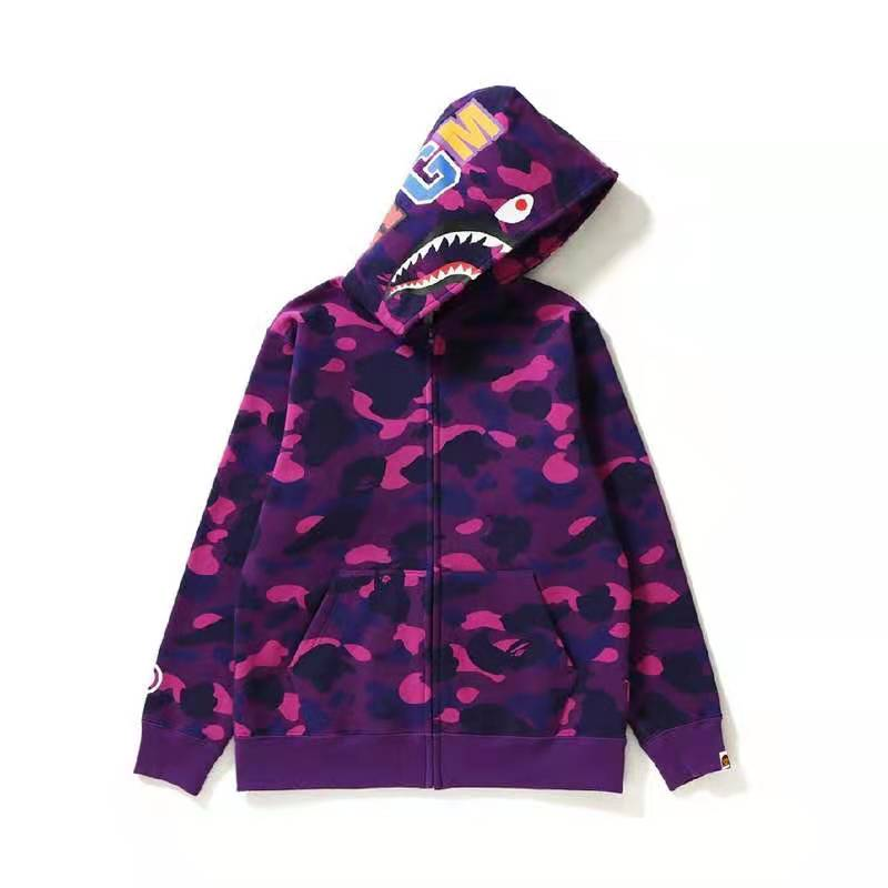 Cross-border new Shark head 3D digital print hoodie fashion hoodie zipper hoodie