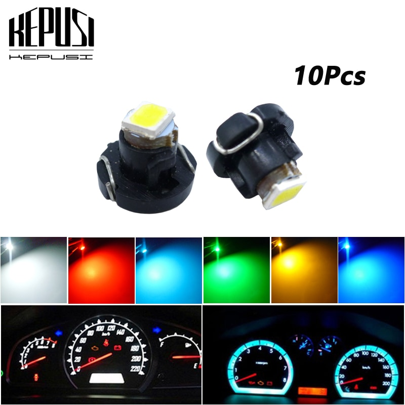 10x Led T3 Neo Wedge A/C Climate Controls Lights Lamps Bulbs for Honda Civic 2003 2004 2006 2007 2008 2009 2010
