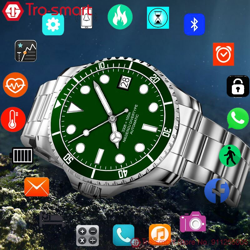 Luxury Digital Watch Men Sport Watches Electronic LED Male Wrist Watch For Men Clock Touch Bluetooth