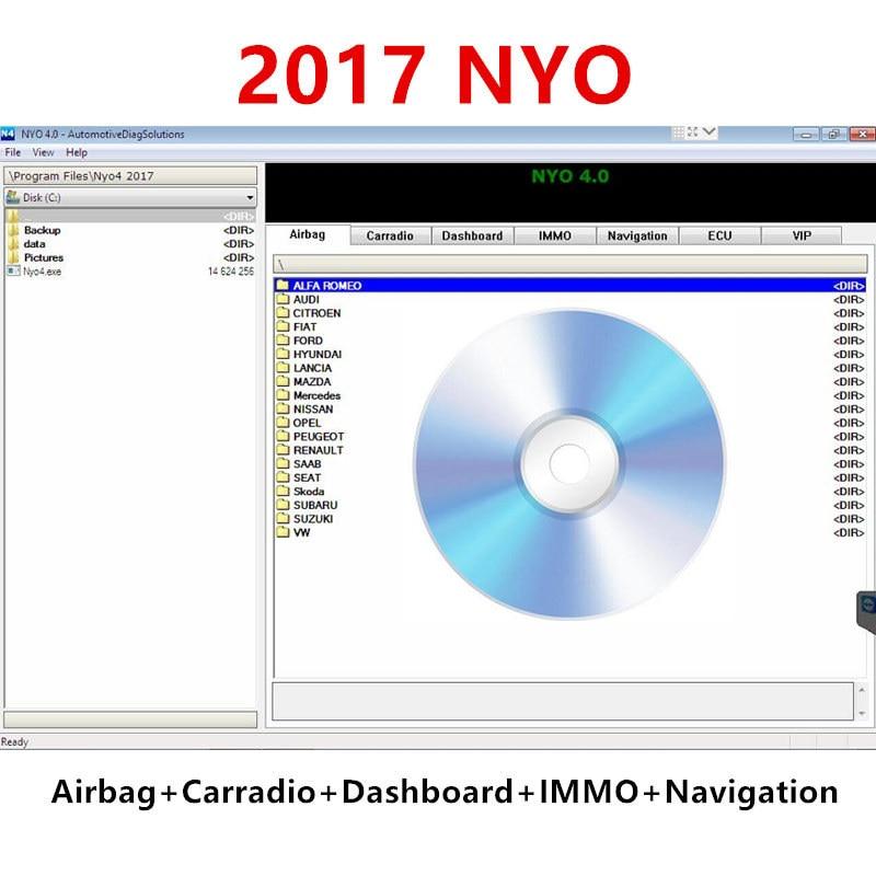 AliExpress - 2017 NYO 4 Full Database Airbag+Carradio+Dashboard+IMMO+Navigation auto repair software