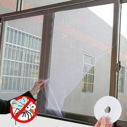 Anti-mosquito telas diy indoor anti-inseto anti-mosca tela durável casa proteção anti-traça livre perfurado janela fio net