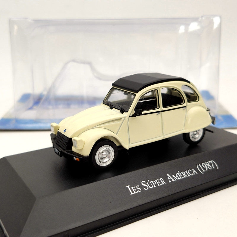 ixo 1 43 for v ksw gen polo classic 1996 diecast models collection limited edition auto toys car gift red IXO 1:43 For Citroen 3CV IES Super America 1987 beige Diecast Models Limited Edition Collection Auto Car Gift