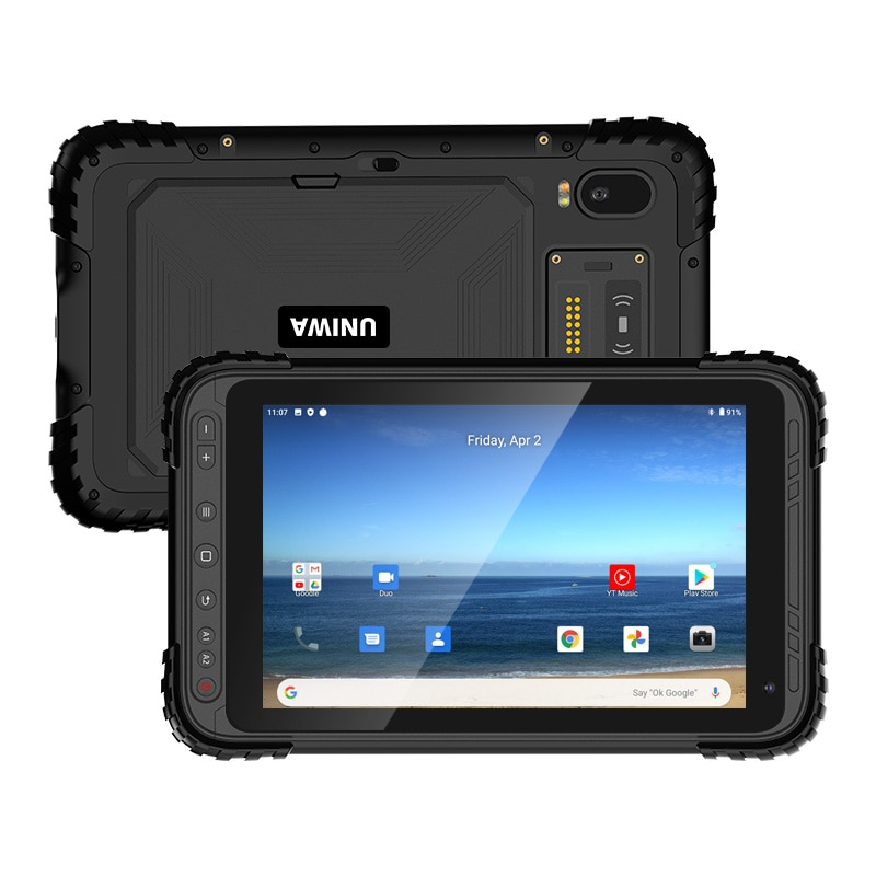 UNIWA QCOM P888 IP67 مقاوم للماء اللوحي الهاتف المحمول 4G شبكة 8 بوصة 9000mah 3GB 32GB NFC وعرة هاتف الكمبيوتر اللوحي