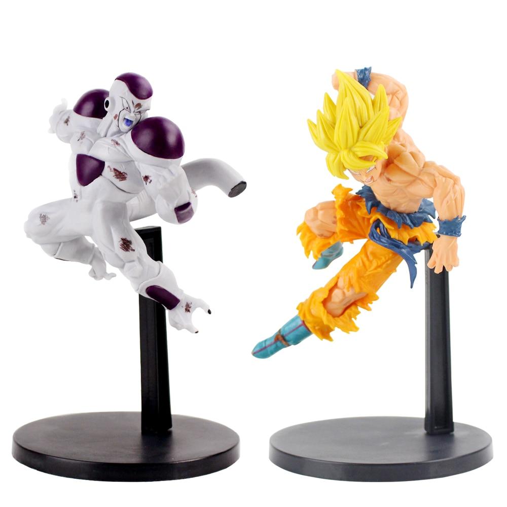 Dragonball Z Super Saiyan Goku del freezer de la bola del dragón del PVC colección de figuras de acción Juguetes