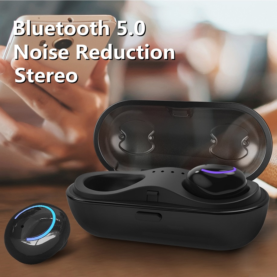 2021 High quality TWS Bluetooth 5.0 Earphones with Charging Box Wireless Headphone 9D Stereo Sports