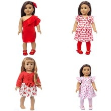 Baby New Born Red Clothes For18 inch  43cm American OG Girls Doll and Doll Clothes Accessories For B