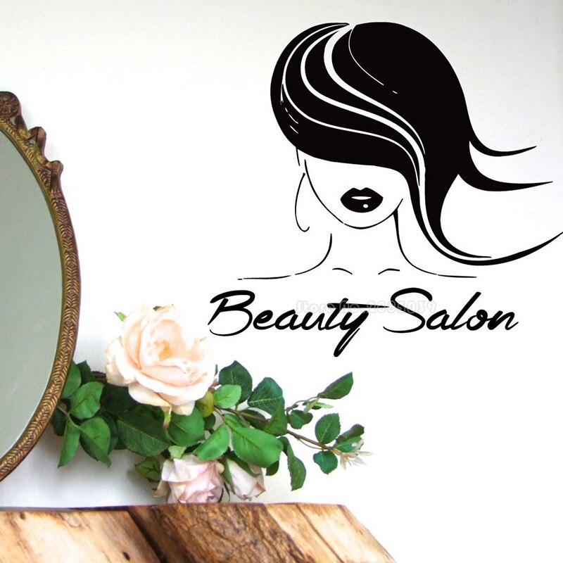 Salón de belleza pegatina de pared para chicas modelo peluquería estudio pegatinas...