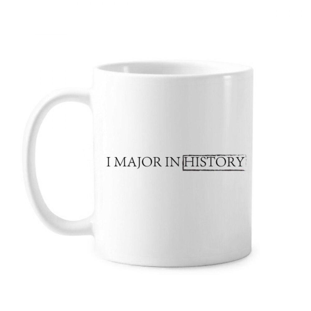 Cita I mayor en la historia taza clásica cerámica blanca taza de regalo con asas 350 ml