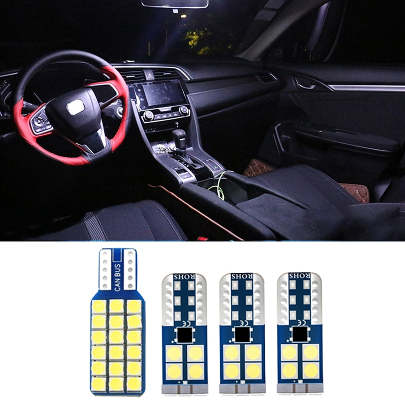 4pcs Car LED Bulb Interior Kit Dome Reading Lamps Trunk Light For Honda Civic 10 2014 2015 2016 2017 2018 2019 2020 Accessory