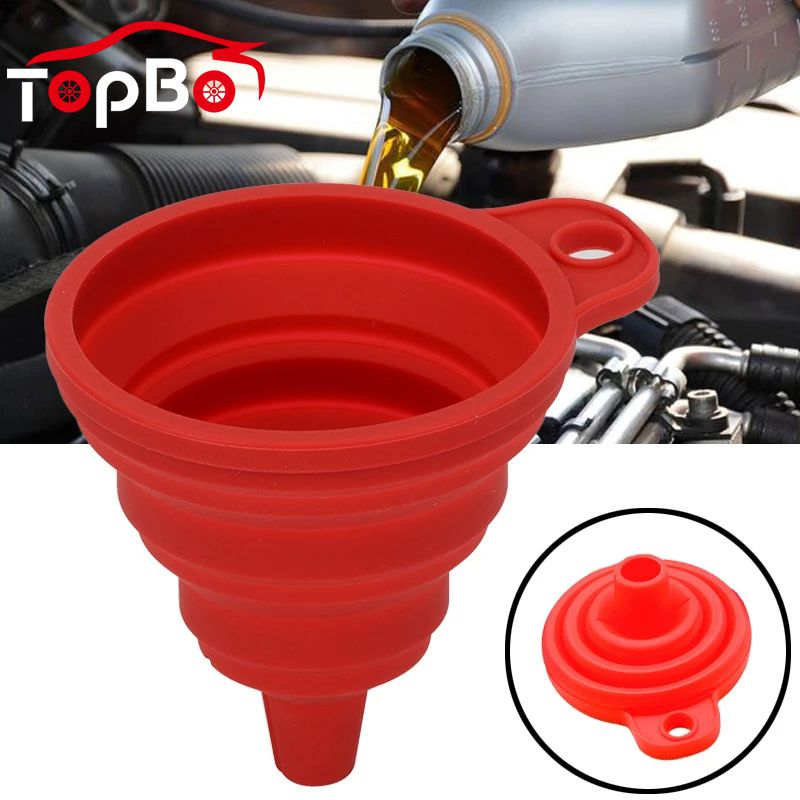 Universal Car Auto Engine Funnel Gasoline Oil Fuel Petrol Diesel Liquid Washer Fluid Change Folding Fill Transfer Collapsible