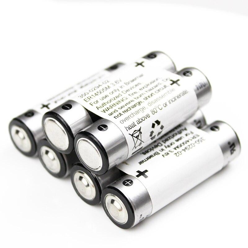6 Pçs/lote ER14505M LS14500 14505 AA 3.6v Bateria De Lítio Baterias Instrumentos Medidores de Backup fonte de Alimentação PLC CNC Facilidade