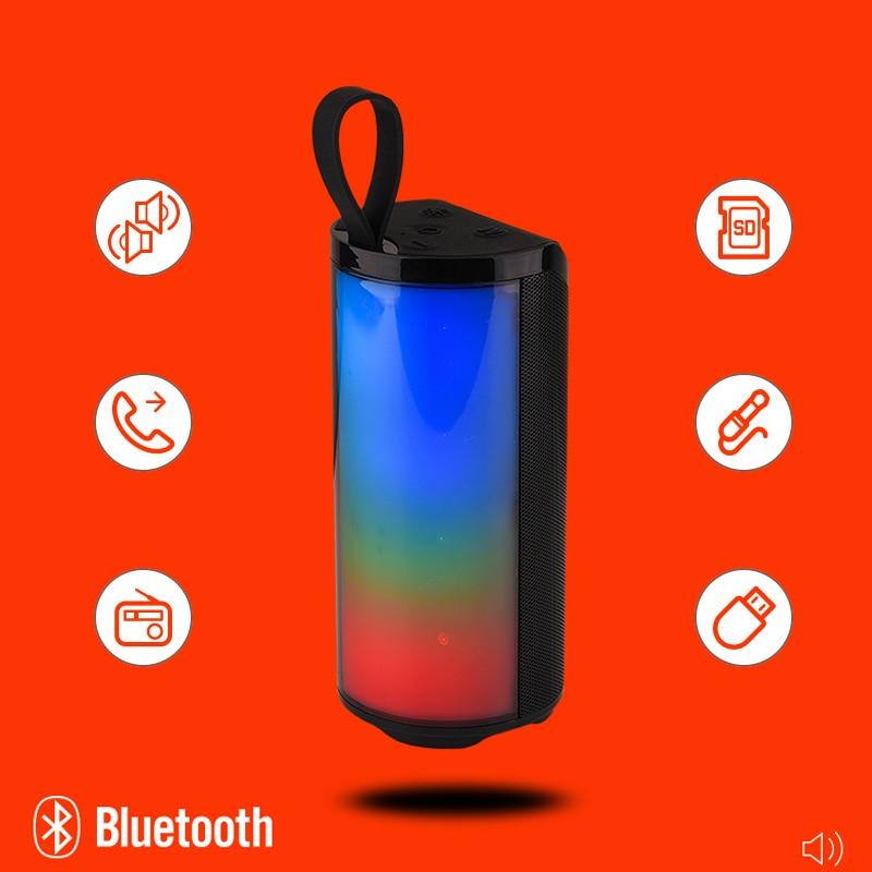 Altavoz portátil con Bluetooth y Radio FM, altavoz con luz LED, Boombox,...
