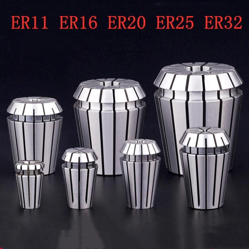 ER11 ER16 ER20 ER25 ER32 Bits Holder Spring Collet for CNC Engraving Machine Milling Lathe Tool high-precision clamp 1pcs precision balanced collet nut er11 er16 er20 er25 er32 nut spring collect nut clamping cnc milling engraving machine