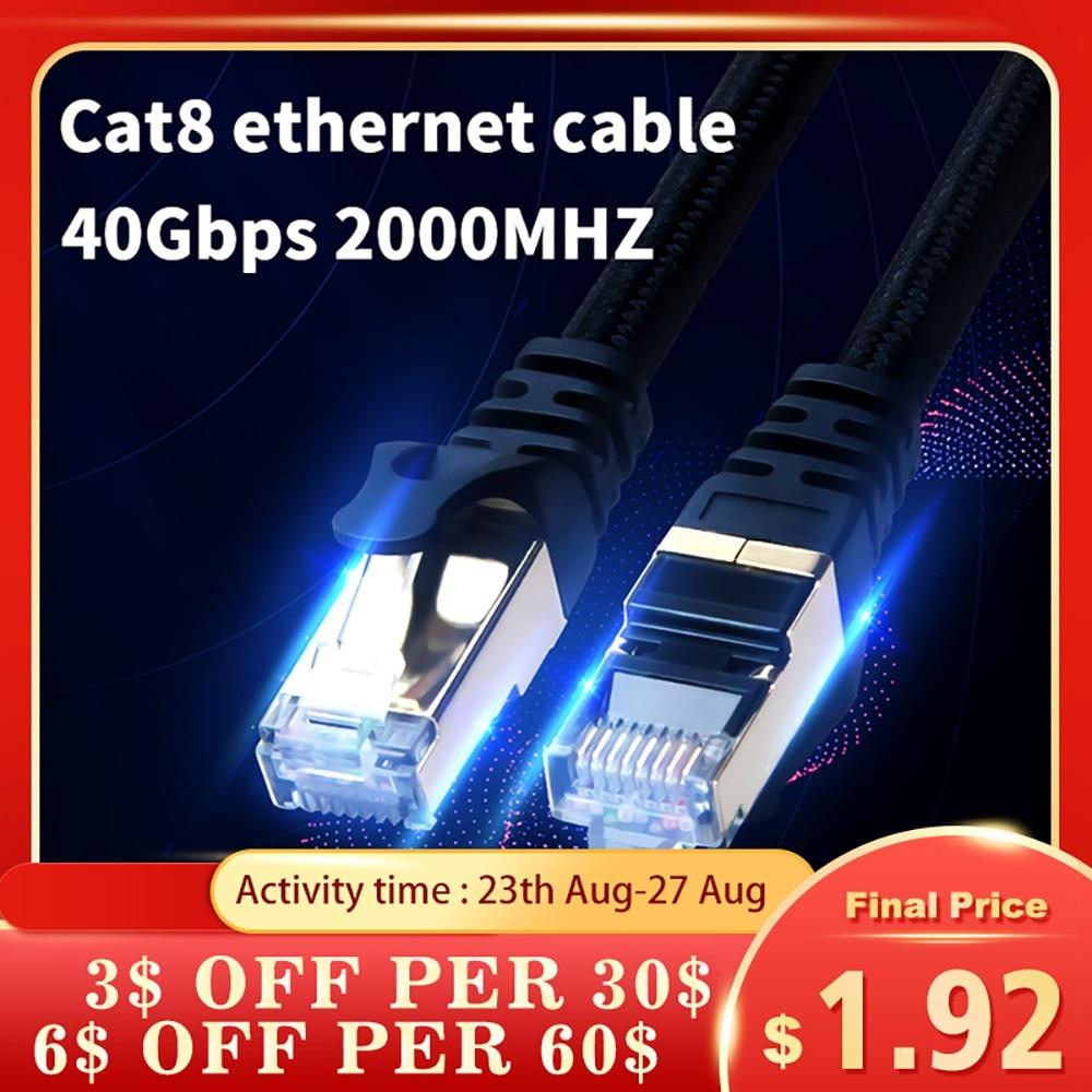 Cat8-Cable Ethernet de alta velocidad, Cat7 para Router Cable Lan, Pc, Ps4,...
