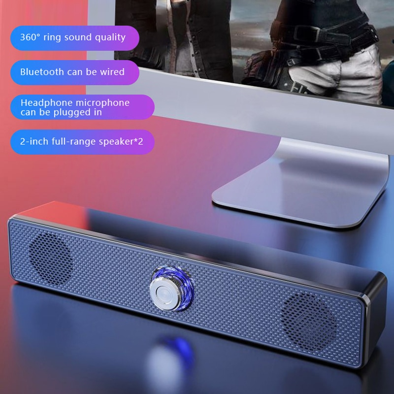 Home Theater HIFI Wired Wireless Bluetooth-compatible Speakers Stereo Bass Sound Bar USB Subwoofer Work For Computer TV Phone enlarge