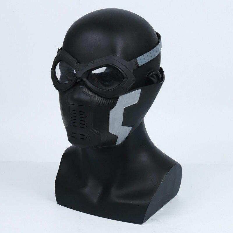 Капитан Америка Зимняя Маска воина Goggle Косплей баки Барнс ПВХ маска Костюм-реквизит подарок