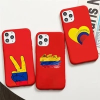 colombian national flag phone case candy color for iphone 6 7 8 11 12 s mini pro x xs xr max plus