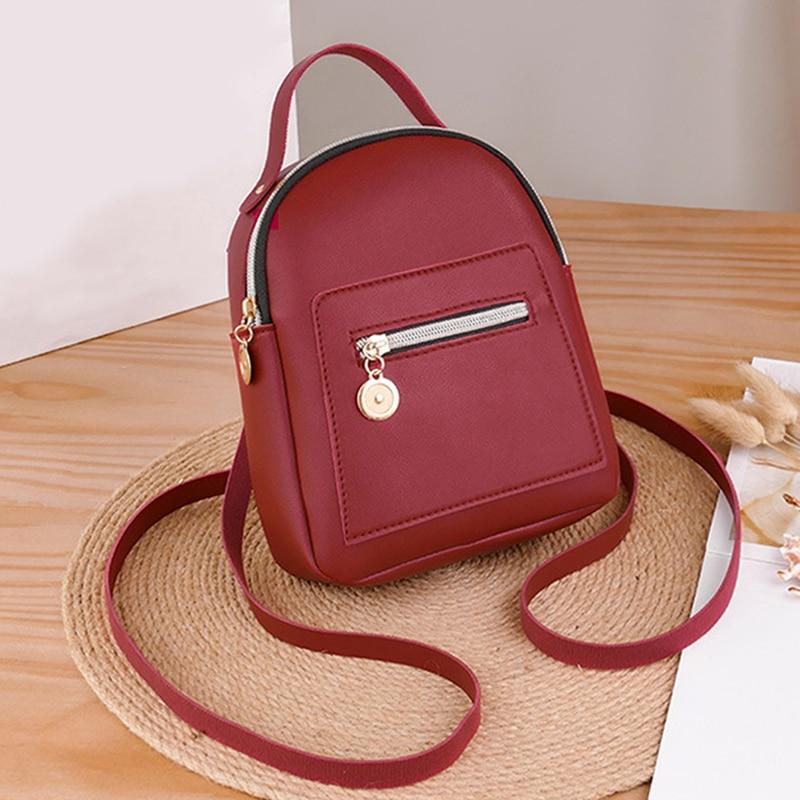 Дизайнерский женский рюкзак Forever Young, мягкий маленький кожаный миниатюрный ранец на ощупь, модная дамская сумка на ремне