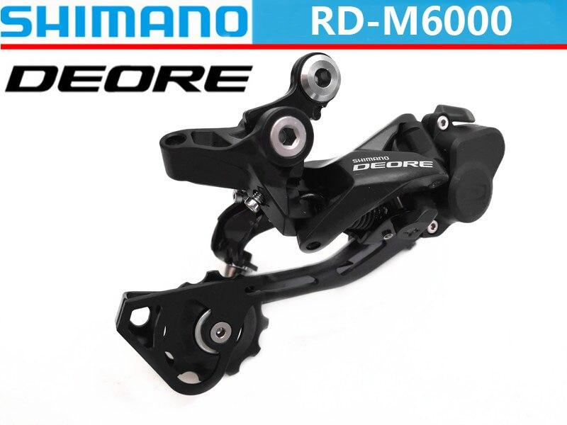 SHIMANO DEORE RD M6000 SGS/GS-ناقل حركة خلفي للدراجة الجبلية, ناقل حركة السرعة الخلفي 10 سرعات خلفي 3s * 10 s 30s ، مع قفل أجزاء الدراجة الجبلية