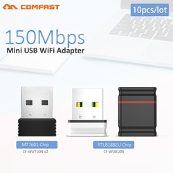 10pcs Adaptador USB Wifi 150Mbps Antena Wi-Fi Adaptador USB MT7601 Wi-fi Dongle Receptor Placa de Rede Sem Fio Wi Fi lan Ethernet