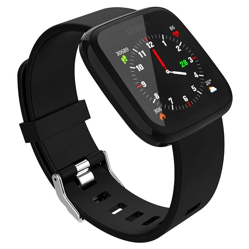 F15 inteligente reloj podómetro con Bluetooth a prueba de agua Fitness Monitor de ritmo cardíaco sangre presión salud deporte reloj inteligente dispositivo portátil