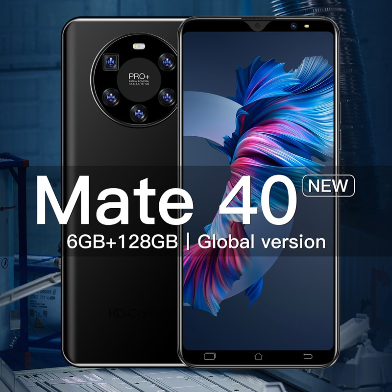 Global Version Smart Phone Hauwei Mate 40 Celular 6GB 128GB Unlocked 6.1