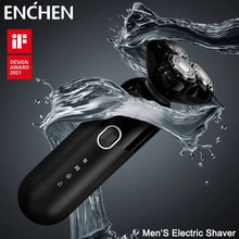 Enchen Electric Shaver For Men 4D Type-C USB Smart Control Rechargeable Home Razor 3 Blades Portable